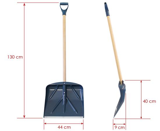 Schneeschaufel Modell PLS-4440; Schaufelblatt: 44x40cm
